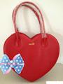 El pasado 2014 diseño del corazón- en forma de moda lindo bolsos de las mujeres guangzhou fabricante de la bolsa