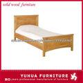 moda cama de madera sólida moderna