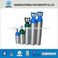 tped punto de aluminio cilindros de gas de alta presión del cilindro de gas de oxígeno para respirar del cilindro de gas