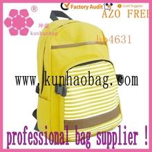 amarillo mochilas de lona