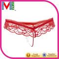 Brasil fabricante de lingerie não tecida descartável g- seqüência pérola de tanga string g