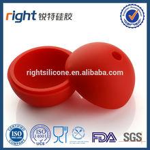 ronda lindo de silicona de color rojo en forma de bola de hielo bandeja del cubo