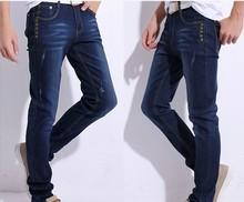 Pantalones vaqueros de los nuevos hombres se estiran los pantalones pies DJ58