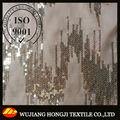 belle feuille de polyester tissu