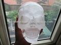 natural de la mano de cristal tallado de cristal de cuarzo del cráneo
