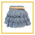 Torta de capa falda, faldas plisadas, bulkskin faldas