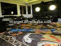 hecho a mano de seda artificial alfombras 005