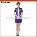diseñador de moda de algodón poli restaurante barato receiption uniforme uniforme del hotel