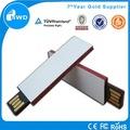 Usb gadget 2.0 de papel de acero pendrive alibaba venta al por mayor de china
