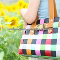plástico de confecção de malhas 100 % handmade bolsa das mulheres