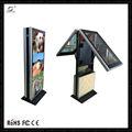 55 pouces. floor stand photo double face écran led réseau wifi 3g joueur de publicité non synchronisation machine kiosque