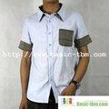 hombres nuevo diseño de manga corta camisa de bordado