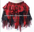 cintura elástica corto tartan gótico mini falda