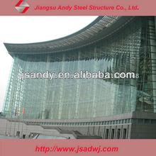 de alta calidad de luz de muros cortina de vidrio para la construcción comercial