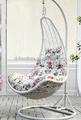 Pendurado rattan poli/cana-de-ferro frame cadeira de balanço/exterior jardim do pátio do balanço da varanda