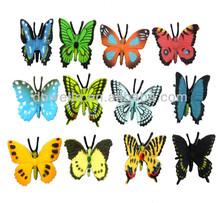 De plástico 3d mariposa color de la estatuilla, realista de la mariposa de juguete modelo