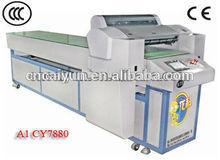 Vidrio de la impresora uv para el vidrio, de cuero, de acrílico, de madera, junta de impresión uv led a1 7880 cy