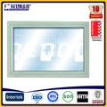 correderas de aluminio de la ventana fija de vidrio transparente