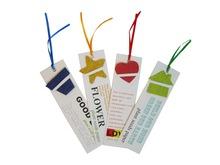 tarjeta plantable de semillas marcapáginas de semillas en tarjeta papel de semillas plantable