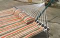 de doble ancho de patio al aire libre hamaca de algodón cama abatible