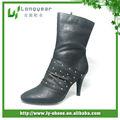 negro botas de cuero de las señoras