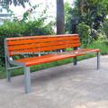 2013 hot venda móveis clássicos jardim banco com estrutura metálica forte e bancos de madeira maciça