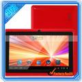 Pulgadas 7 a13 5- punto de la pantalla táctil android 4.0 vatop restaurante menú de tablet pc nosotros estándar de color rojo