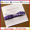 2013 elegante diseño de la boda tarjeta de invitación