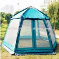hexagonal grande cubierta pérgola tienda de campaña para al aire libre