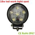 venta caliente 3w epsitar 6 x led 12v 24v dc 1200lm ce rohs ip67 18 led de luz de trabajo