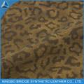 2014 venta caliente forro del zapato y hacer plantilla estampado de leopardo de la PU