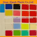 de color de acrílico pmma hoja flexible de láminas de plástico