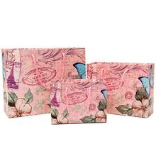 De diferente tamaño de papel de regalo bolsa/personalizado bolsa de papel