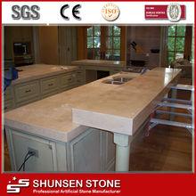 Piedra Artificial encimera de cuarzo Tipo de cocina Tops SQZ026