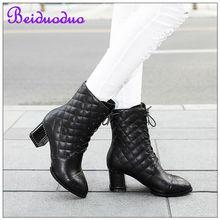 cuero de grano completo forro de piel de cerdo rbber botas de suela elegante para las mujeres