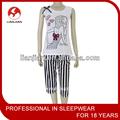 señora de algodón ropa de dormir para el verano