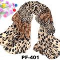 Pañuelo de gasa pañuelo salvaje con leopardo impresión