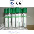 La heparina de litio tubo, verde superior aprobado por la ce
