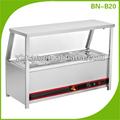 mesa de acero inoxidable parte superior baño maría eléctrico calentador de alimentos
