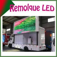 P10mm, uso exterior, Remolque con pantalla LED,a todo color, pantalla china de camiones