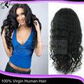 2013 Beleza wemen meninacabelo brasileiro virgem onda profunda Cabelo humano Full Lace Wigs