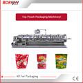 máquina empacadora empaquetadora envasadora automática horizontal Doypack con zipper para alimento de animal