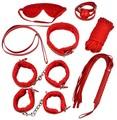 7 pcs sexy conjunto de herramientas para adultos av kit de imitación de cuero juguetes de la diversión