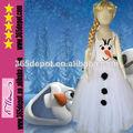 2014 mais novo boneco fantasia crianças princesa elsa congelado o vestido de atacado