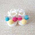 venta al por mayor de moda crochet tejer zapatos de recién nacido
