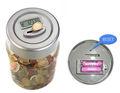 de alta calidad de euros contando dinero jar