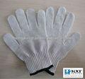 blanco natural de algodón guantes de protección