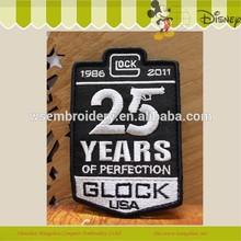 personalizado glock estados unidos bordado logotipo de la empresa diseño parche