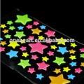 lindo de dibujos animados de colores en forma de estrellas puffy etiqueta
