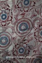 Circular floral de impresión de tela de algodón, geométrico y floral impreso tela